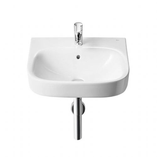 Roca Debba Wall Hung Basin - 650mm - 1 Tap Hole - White
